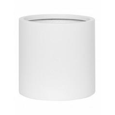 Кашпо Pottery Pots Fiberstone matt white, белого цвета puk L размер  Диаметр — 255 см