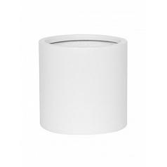 Кашпо Pottery Pots Fiberstone matt white, белого цвета puk M размер  Диаметр — 20 см