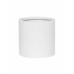 Кашпо Pottery Pots Fiberstone matt white, белого цвета puk S размер  Диаметр — 15 см
