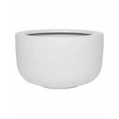 Кашпо Pottery Pots Fiberstone matt white, белого цвета sunny L размер  Диаметр — 45 см