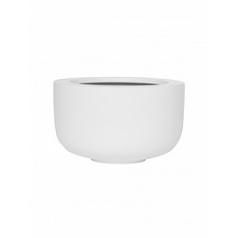 Кашпо Pottery Pots Fiberstone matt white, белого цвета sunny M размер  Диаметр — 33 см