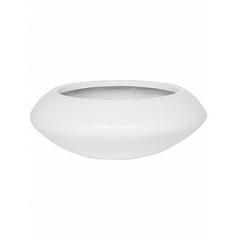 Кашпо Pottery Pots Fiberstone matt white, белого цвета tara S размер  Диаметр — 40 см