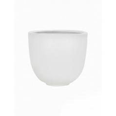 Кашпо Pottery Pots Fiberstone matt white, белого цвета tim M размер  Диаметр — 35 см