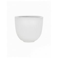 Кашпо Pottery Pots Fiberstone matt white, белого цвета tim S размер  Диаметр — 26 см