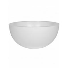 Кашпо Pottery Pots Fiberstone matt white, белого цвета vic bowl L размер  Диаметр — 60 см