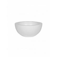 Кашпо Pottery Pots Fiberstone matt white, белого цвета vic bowl S размер  Диаметр — 385 см