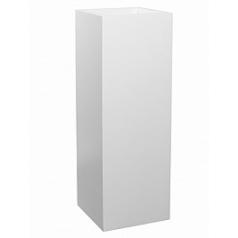 Кашпо Pottery Pots Fiberstone matt white, белого цвета yang Длина — 35 см