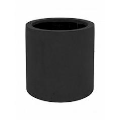 Кашпо Pottery Pots Fiberstone max black, чёрного цвета S размер  Диаметр — 30 см