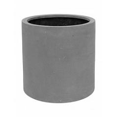 Кашпо Pottery Pots Fiberstone max grey, серого цвета M размер  Диаметр — 43 см