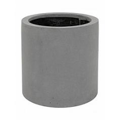 Кашпо Pottery Pots Fiberstone max grey, серого цвета S размер  Диаметр — 30 см