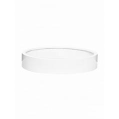 Кашпо Pottery Pots Fiberstone max low L размер glossy white, белого цвета  Диаметр — 60 см