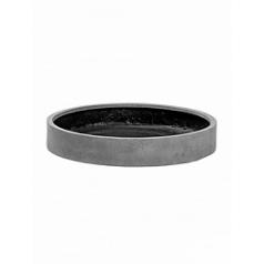 Кашпо Pottery Pots Fiberstone max low L размер grey, серого цвета  Диаметр — 60 см