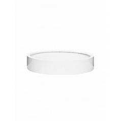 Кашпо Pottery Pots Fiberstone max low M размер glossy white, белого цвета  Диаметр — 50 см
