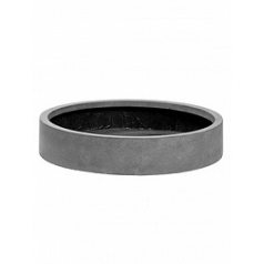 Кашпо Pottery Pots Fiberstone max low M размер grey, серого цвета  Диаметр — 50 см