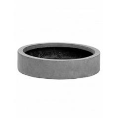 Кашпо Pottery Pots Fiberstone max low S размер grey, серого цвета  Диаметр — 40 см