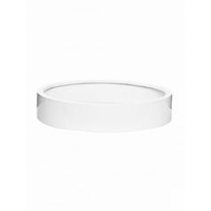 Кашпо Pottery Pots Fiberstone max low XL размер glossy white, белого цвета  Диаметр — 80 см