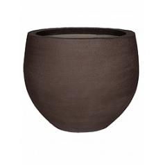 Кашпо Pottery Pots Fiberstone earth jumbo orb s, тёмно-коричневого цвета  Диаметр — 87 см