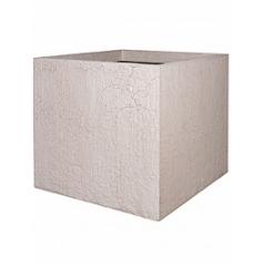 Кашпо Pottery Pots Fiberstone earth jumbo xl, sundried white, белого цвета Длина — 110 см