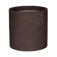 Кашпо Pottery Pots Fiberstone earth max l, тёмно-коричневого цвета  Диаметр — 50 см