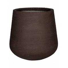 Кашпо Pottery Pots Fiberstone earth pax xl, тёмно-коричневого цвета  Диаметр — 66 см