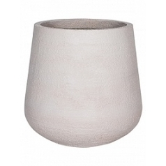 Кашпо Pottery Pots Fiberstone earth pax xl, off white, белого цвета  Диаметр — 66 см