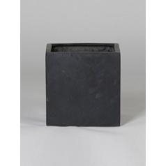 Кашпо Pottery Pots Fiberstone fleur black, чёрного цвета L размер Длина — 25 см