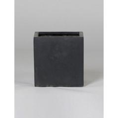 Кашпо Pottery Pots Fiberstone fleur black, чёрного цвета M размер Длина — 20 см