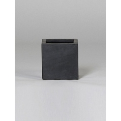 Кашпо Pottery Pots Fiberstone fleur black, чёрного цвета S размер Длина — 15 см