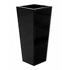 Кашпо Pottery Pots Fiberstone glossy black, чёрного цвета beau Длина — 33 см