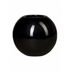 Кашпо Pottery Pots Fiberstone glossy black, чёрного цвета beth  Диаметр — 50 см