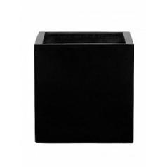 Кашпо Pottery Pots Fiberstone glossy black, чёрного цвета block L размер Длина — 50 см