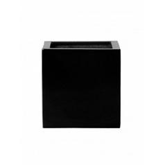 Кашпо Pottery Pots Fiberstone glossy black, чёрного цвета block M размер Длина — 40 см