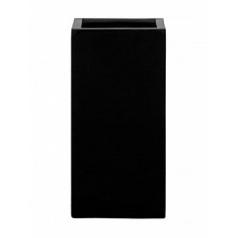 Кашпо Pottery Pots Fiberstone glossy black, чёрного цвета bouvy M размер Длина — 30 см