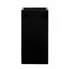 Кашпо Pottery Pots Fiberstone glossy black, чёрного цвета bouvy Длина — 40 см