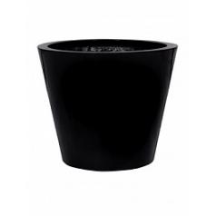 Кашпо Pottery Pots Fiberstone glossy black, чёрного цвета bucket M размер  Диаметр — 58 см