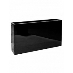 Кашпо Pottery Pots Fiberstone glossy black, чёрного цвета jort slim S размер Длина — 91 см