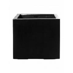 Кашпо Pottery Pots Fiberstone glossy black, чёрного цвета jumbo without feet L размер Длина — 90 см