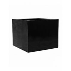 Кашпо Pottery Pots Fiberstone glossy black, чёрного цвета jumbo without feet XL размер Длина — 110 см
