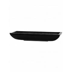 Кашпо Pottery Pots Fiberstone glossy black, чёрного цвета pandora M размер Длина — 64 см