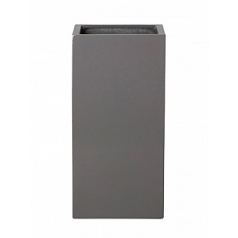 Кашпо Pottery Pots Fiberstone glossy grey, серого цвета bouvy Длина — 40 см