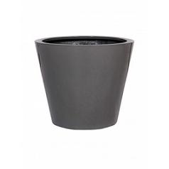 Кашпо Pottery Pots Fiberstone glossy grey, серого цвета bucket S размер  Диаметр — 49 см