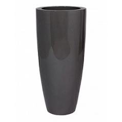 Кашпо Pottery Pots Fiberstone glossy grey, серого цвета dax XL размер  Диаметр — 47 см