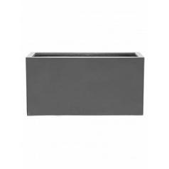 Кашпо Pottery Pots Fiberstone glossy grey, серого цвета jort M размер Длина — 100 см