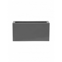 Кашпо Pottery Pots Fiberstone glossy grey, серого цвета jort S размер Длина — 80 см