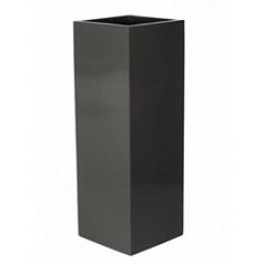 Кашпо Pottery Pots Fiberstone glossy grey, серого цвета yang Длина — 35 см