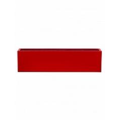 Кашпо Pottery Pots Fiberstone glossy red, красного цвета balcony XL размер Длина — 80 см