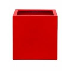Кашпо Pottery Pots Fiberstone glossy red, красного цвета block L размер Длина — 50 см