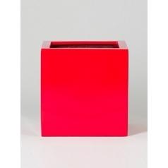 Кашпо Pottery Pots Fiberstone glossy red, красного цвета block M размер Длина — 40 см