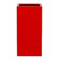 Кашпо Pottery Pots Fiberstone glossy red, красного цвета bouvy Длина — 40 см