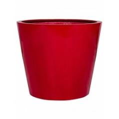 Кашпо Pottery Pots Fiberstone glossy red, красного цвета bucket L размер  Диаметр — 68 см